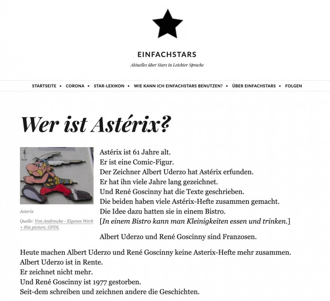 Einfachstars-Lexikon